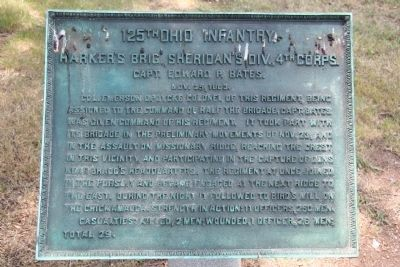 125th Ohio Infantry. Marker image. Click for full size.
