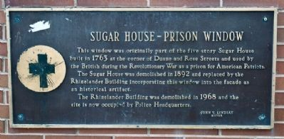 Sugar House - Prison Window Marker image. Click for full size.