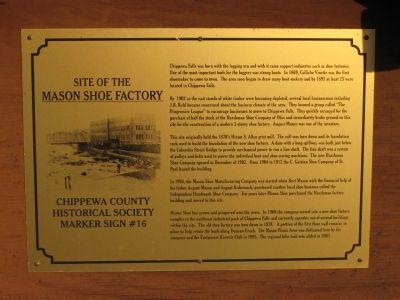 Site of the Mason Shoe Factory Marker image. Click for full size.