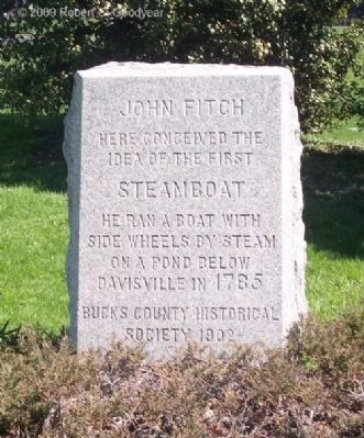 John Fitch's Steamboat Marker image. Click for full size.