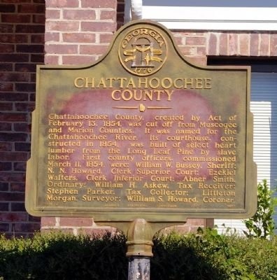Chattahoochee County Marker image. Click for full size.