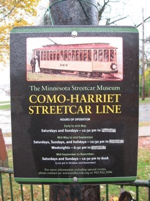 Como–Harriet Streetcar Line Sign image. Click for full size.