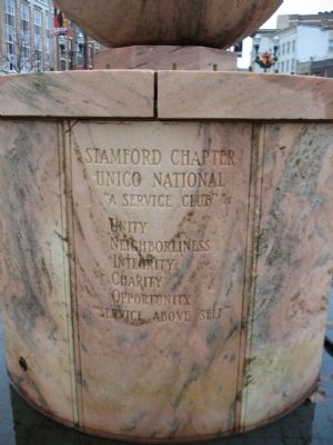 Christopher Columbus Statue Pedestal image. Click for full size.