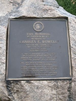 Charles E. Rowell Marker image. Click for full size.