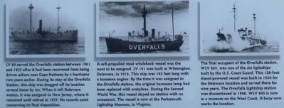 Overfalls Lightship Marker, lower left pictures image. Click for full size.