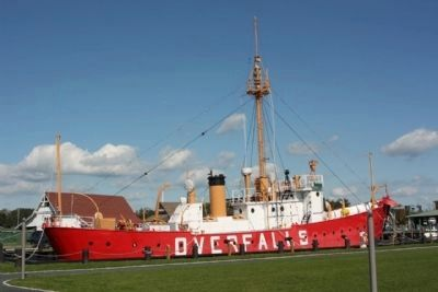 Overfalls Lightship image. Click for full size.