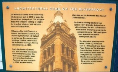 Architectural Gems on the Riverfront Marker image. Click for full size.