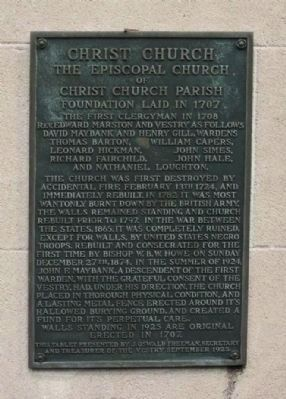 Christ Church Marker image. Click for full size.