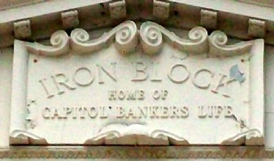 Iron Block Tympanum Detail image. Click for full size.