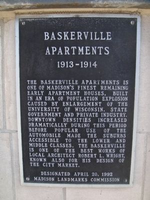 Baskerville Apartments Marker image. Click for full size.