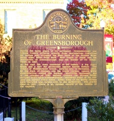 The Burning of Greensborough Marker image. Click for full size.