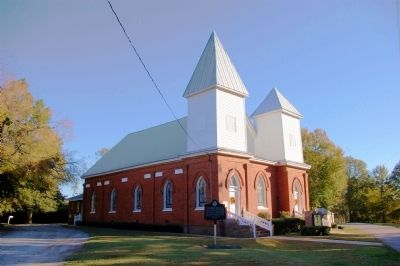 Historic Springfield Baptist Church and Marker image. Click for full size.