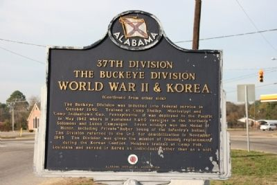 37th Division The Buckeye Division Marker (Side B) image. Click for full size.