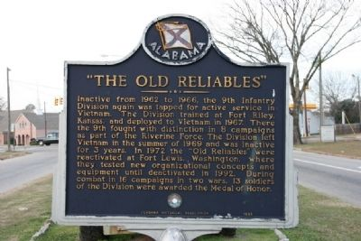 "9th Infantry Division / ""The Old Reliables"" Marker (Side B) image. Click for full size."