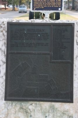 Camp Sheridan Marker (Side A) image. Click for full size.