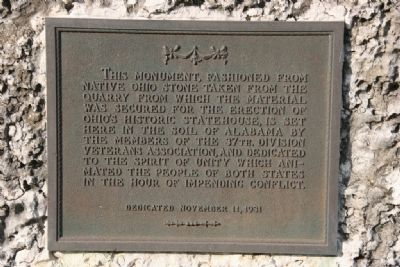 Camp Sheridan Marker (Side B Close-up) image. Click for full size.
