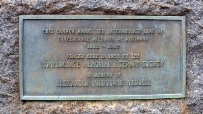 Intermediate Line of Confederate Defenses Marker image. Click for full size.