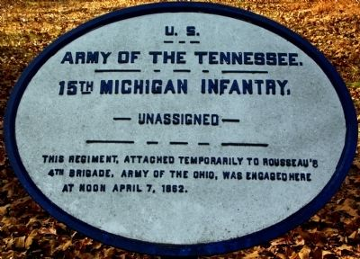 15th Michigan Infantry Marker image. Click for full size.