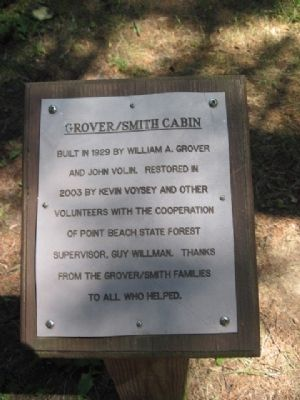 Grover/Smith Cabin Marker image. Click for full size.