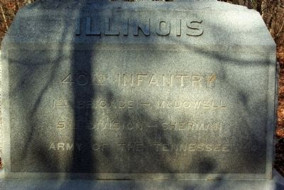40th Illinois Infantry Marker image. Click for full size.