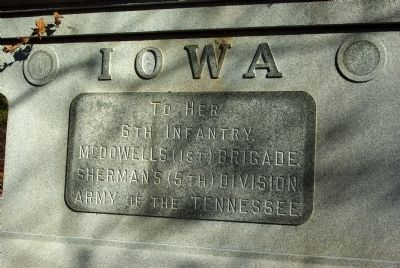 6th Iowa Infantry Marker image. Click for full size.