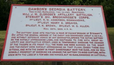 Dawson's Georgia Battery. Marker image. Click for full size.