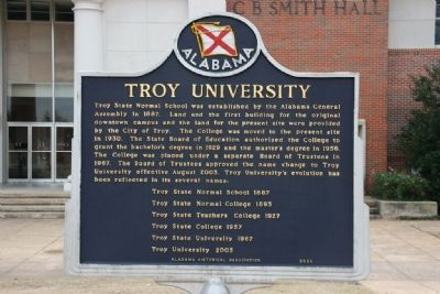Troy University Marker image. Click for full size.