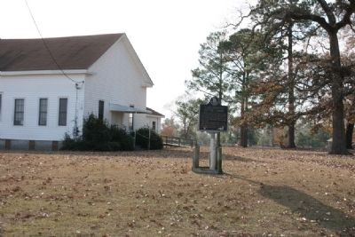 Elam Primitive Baptist Church and Marker image. Click for full size.