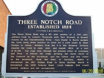 Three Notch Road Marker - Side A image. Click for full size.