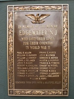 Edgewater World War II Memorial image. Click for full size.