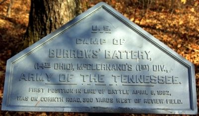 Camp of Burrow's Battery Marker image. Click for full size.