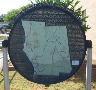 The Stewart County Iron Industry Marker image. Click for full size.