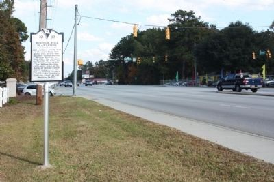 Windsor Hill Plantation Marker, looking east along Ashley Phosphate Road image. Click for full size.
