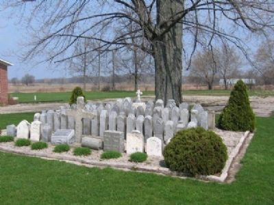 Cemetery Behind Marker image. Click for full size.