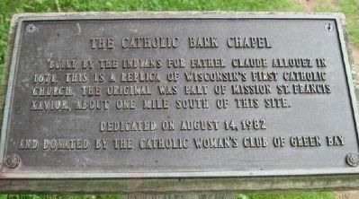 The Catholic Bark Chapel image. Click for full size.