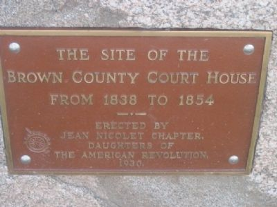 Brown County Court House Marker image. Click for full size.
