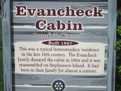 Evancheck Cabin Marker image. Click for full size.