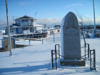 Marker and Harbor Master Building in Winter image. Click for full size.