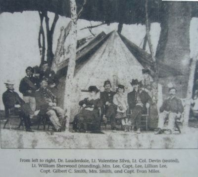 Camp Lowell 1866-1873 Photo Displayed on Marker image. Click for full size.