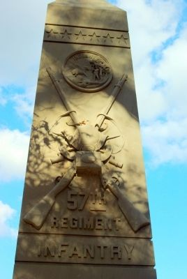 57th Indiana Infantry Marker image. Click for full size.