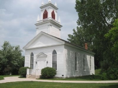 Moravian Church. Built 1851 - 1852 image. Click for full size.