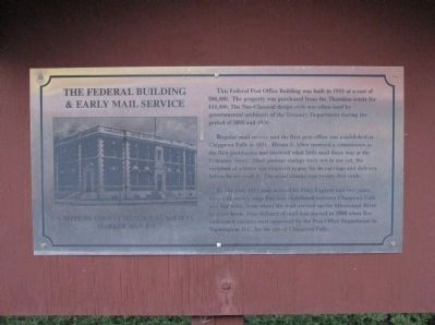 The Federal Building & Early Mail Service Marker image. Click for full size.