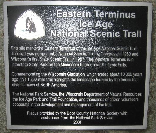 Eastern Terminus Ice Age National Scenic Trail Marker