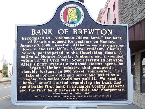Bank of Brewton Marker - Side A