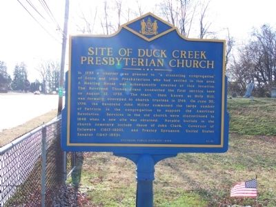 Site of Duck Creek Presbyterian Church Marker image. Click for full size.