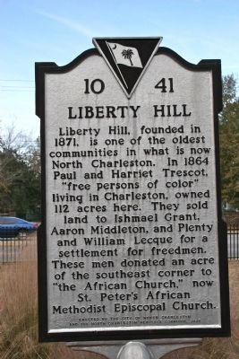 Liberty Hill Marker image. Click for full size.