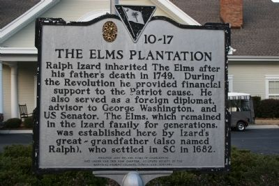 The Elms Plantation Marker image. Click for full size.