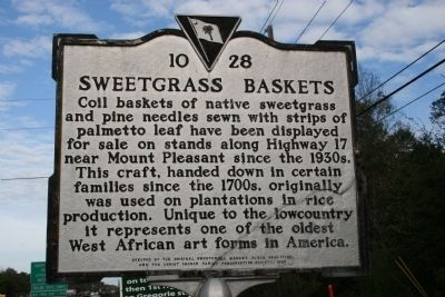 Sweetgrass Baskets Marker image. Click for full size.