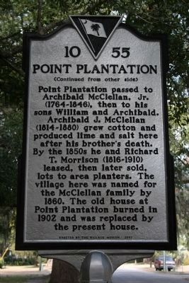 Point Plantation Marker - Side B image. Click for full size.