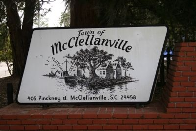 McClellanville Town Sign at the Town Hall and Museum image. Click for full size.